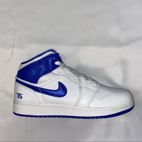Nike Air Jordan 1 Mid GS '85 Blue and Red 6.5Y 8W